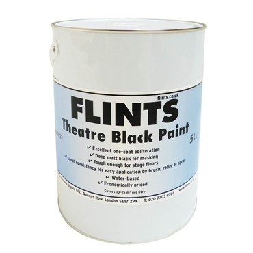 Flints Theatre Black Paint 5L