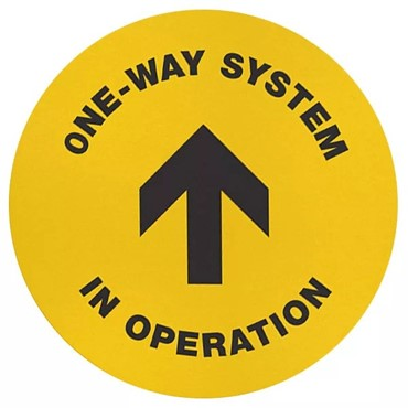 One Way System Floor Sign